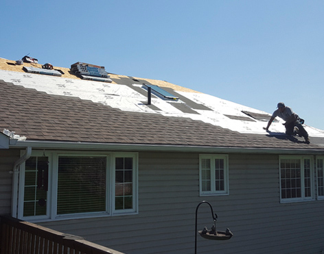 reshingle, new roof